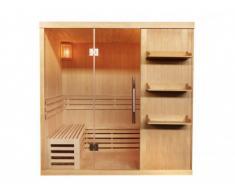 Sauna tradicional de 4/5 plazas FABORG acristalada - 200 x 180 x 200 cm