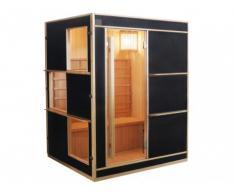 Sauna tradicional finlandesa LAHTI - 3/4 plazas - Color negro