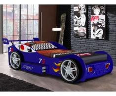 Cama coche RUNNER con cajón - 90x200 cm - Azul