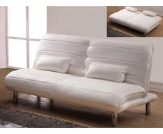 Sofá cama 3 plazas de piel sintética ENOUMA - Blanco