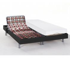 Cama articulada eléctrica de latex CASSIOPEE III de DREAMEA - Color negro - Motor OKIN - 2x80x200 cm
