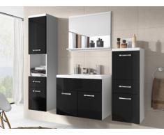 Conjunto de baño CLAUDIA - Muebles + lavabo + espejo- lacado negro