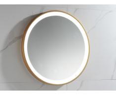Espejo de baño redondo con luces led NUMEA dorado - Ancho 60 x Prof. 3.5 x Alt. 60 cm
