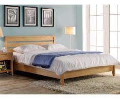 Estructura de cama CHAMBARAN - 140x190 cm - Roble engrasado