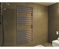 Radiador toallero mixto LIGNO - Gris - 120x60 cm