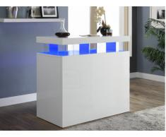 Mueble de bar FABIO - MDF lacado blanco - Leds