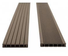 Lote de 30 láminas para terraza TERAE II - Pack 9.60m² - Chocolate