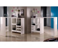 Mueble bar extensible FIZZ II - MDF lacado blanco