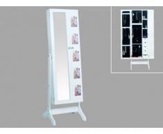 Armario para joyas con espejo y portafotos POLINA - Alt. 142 cm
