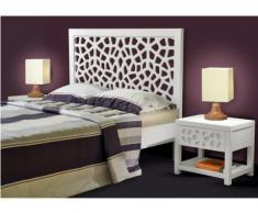 Mesa de noche DOLLY - 1 cajón - Madera y MDF - Lacado blanco