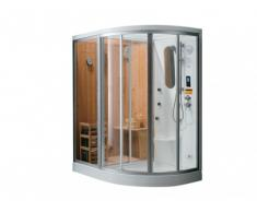 REBAJAS - Ducha rinconera HAUMEA - Hidromasaje, sauna, baño de vapor - Ángulo izquierdo