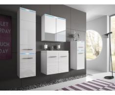 Conjunto de baño CLEMENCE con LEDs - Muebles lacados- color blanco