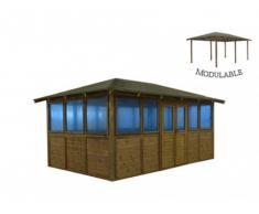 Gazebo CARAVELAS 5 x 3 m para piscina o jacuzzi - Modular