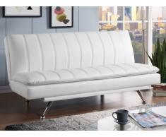 Sofá cama clic-clac MYRIAM de piel sintética - Blanco