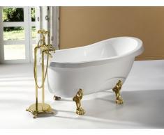 Bañera independiente estilo retro EGEE II - 171L - 145x74x77cm - Color blanco con patas doradas