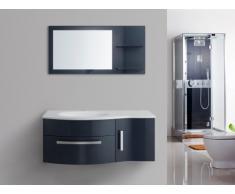 Conjunto para baño NAIADE - muebles + lavabo + espejo - Azul