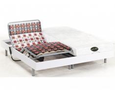 Cama articulada eléctrica con memoria de forma y bambú LYSIS III de NATUREA - Blanco - Motores OKIN - 2x100x200 cm