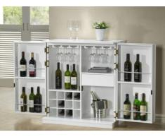 Mueble de bar GORDON - Hevea & MDF - Blanco