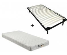 Pack somier de láminas + colchón de muelles WOLKENLOS de MORGENGOLD - 90x200cm