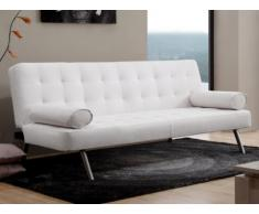 Sofá cama clic-clac MICHELLE de piel sintética - Blanco