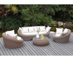 Conjunto de jardín WHITEHEAVEN: Sofá 3 plazas, 2 sillones y mesa de centro