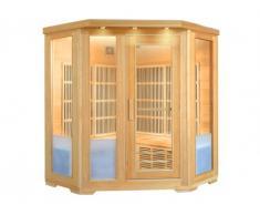 Sauna rinconera de infrarrojos 4/5 plazas FJORD - Gama Carbono