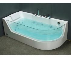 Bañera de hidromasaje acristalada ARIA - 1 plaza - 263L - 80x170x57 cm