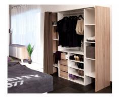 Conjunto de armario vestidor + mueble EMERIC - Roble & Topo