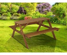 Mesa de picnic con dos bancos de acacia DEPOK