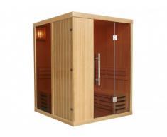 Sauna tradicional de 3/4 plazas MARIBO - 150 x 150 x 200 - cristales tintados