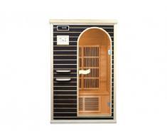 Sauna de infrarrojos LIESKA - 2 plazas - Gama Carbono - Wengué