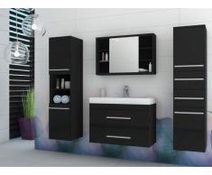 Conjunto de baño MARYLIN - Muebles + lavabo + espejo - Negro