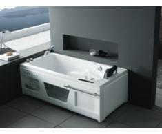 Bañera de hidromasaje rectangular ATLANTIDE - 1 plaza - 9 chorros