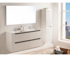 Conjunto SELITA - muebles para baño con doble lavabo y espejo - Lacado blanco