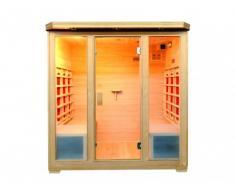 Sauna de infrarrojos 4/5 plazas STOCKHOLM II - Gama Prestige