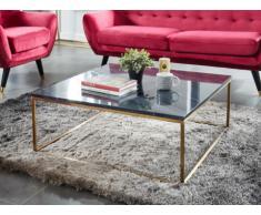 Mesa de centro design ARETHA - Mármol y metal - Negro & Dorado