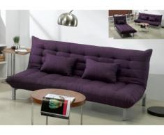 Sofá cama clic-clac 3 plazas de tela HORNET - Violeta