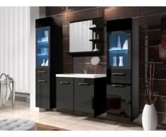 Conjunto LAURINE con leds - muebles para baño - negro lacado