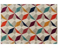 Alfombra de estilo contemporáneo IMPRESSION - polipropileno y yute - 160x230 cm - Multicolor