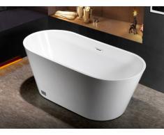 Bañera exenta de diseño TWIGGY - 70x150x58 cm - Blanca