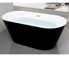 Bañera exenta de diseño TWIGGY - 70x150x58 cm - Negra