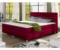 PACK Cabecero + somier + colchón + cubrecolchón PASSION de PALACIO - Tela roja - 2x80x200 cm