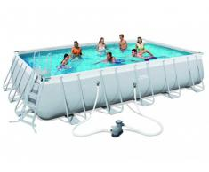 Piscina tubular rectangular ANTIGUA II - Largo 671 x Ancho 366 x Alt.132 cm