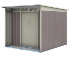 Caseta de jardín de acero galvanizado gris COLMAR - 5,5m²