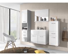 Conjunto de baño CLAUDIA - Muebles + lavabo + espejo - Lacado blanco