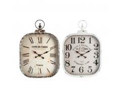 Conjunto de dos relojes de pared bovet