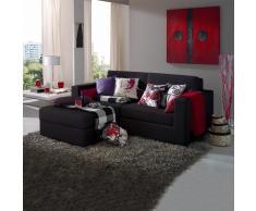 Sofá chaise longue lisboa 3 plazas negro