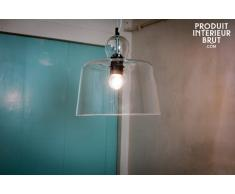 Lámpara de techo con campana de cristal