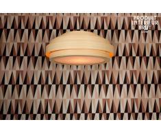 Lámpara de techo estilo shabby chic de bambú