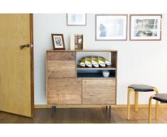 Aparador alto de estilo vintage de madera Bascole